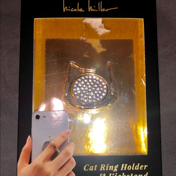 Accessories - BLINGED OUT CAT POP SOCKET